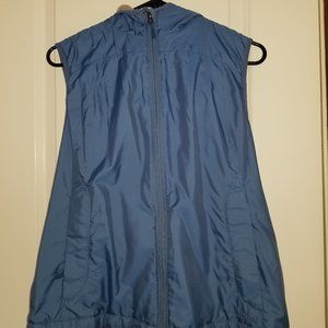LL Bean zip vest lined and hooded